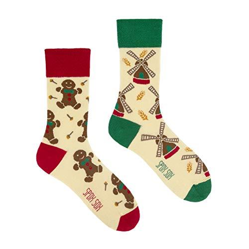 ex - mehrfarbige, bunte Socken für Individualisten, Gr. 36-39, Lebkuchens und Windmühle ()