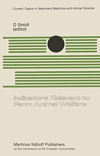Indicators Relevant to Farm Animal Welfare: A Seminar in the CEC Programme of Coordination of Research on Animal Welfare, organized by Dr. D. Smidt, ... 1982 (Current Topics in Veterinary Medicine)