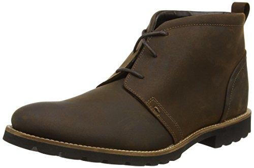 Rockport Sharp And Ready Charson, Stivaletti alla caviglia non foderati uomo Marrone (Marrone (Brown))