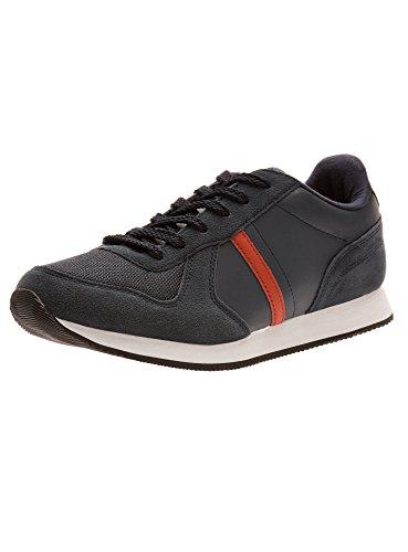 oodji Ultra Hombre Zapatillas Deportivas Básicas de Materiales Combinados, Azul, 42 EU / 8 UK