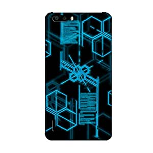 DIGITIZED HEXAGONS BACK COVER FOR HONOR 6 PLUS