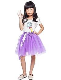 ada80de134fe ShowYeu Girl's 7 Layers Kids Pettiskirt Ballet Dance Dress-up Tutu Tulle  Skirt Ball Gown