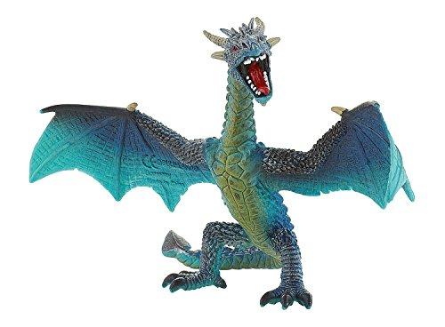 Bullyland 75592 Dragón volador - Figura de fantasía (17,8 cm), color turquesa