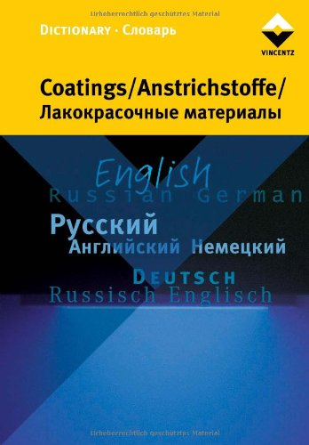 Dictionary Coatings, Anstrichstoffe -