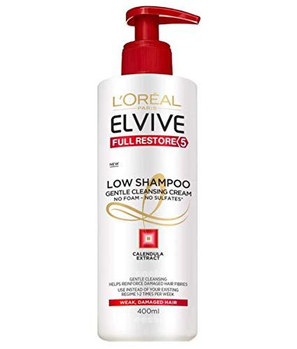 L'Oreal Paris Elvive Total Repair 5 Low Shampoo Champú Sin Sulfatos para Pelo Dañado, Sensibilizado 400 ml