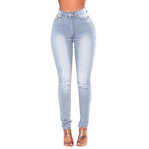 Zyueer donna jeans elasticizzati jeggings skinny, pantaloni skinny jeans donna a vita alta slim skin bassa con strappati buco elasticizzati leggins stretti push up
