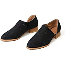 Zapatos Mujer Verano Otoño Sandalias De Cuña Tobillo Boots Respirable Hueco Redonda Toe Zapatos Botas Negro