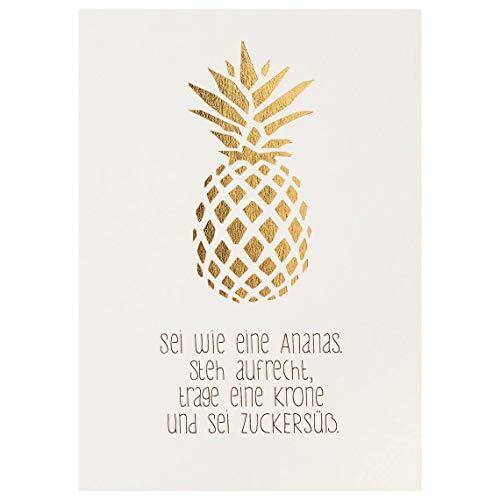 """Mein Lieblingsmensch Postkarte\""""Sei wie eine Ananas\"""""""