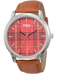 Gully by Timex Shirt Analog Red Dial Men's Watch-TWEG15010