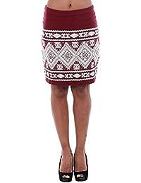 Vero Moda Skirt Women Bordeaux 10166432 VMBLINGY N/W Mini Skirt DNM V Zinfandel/Snow White