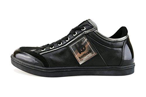 BOTTICELLI 39 EU sneakers uomo nero pelle vernice AG54