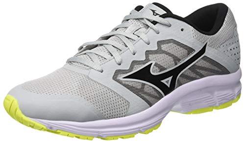 Mizuno Ezrun LX, Zapatillas de Running para Hombre, Azul (High/Rise/Black/Safetyyellow 11), 44.5 EU