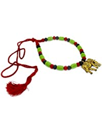 More Bangla Green Elephant Handcrafted Dokra Necklace