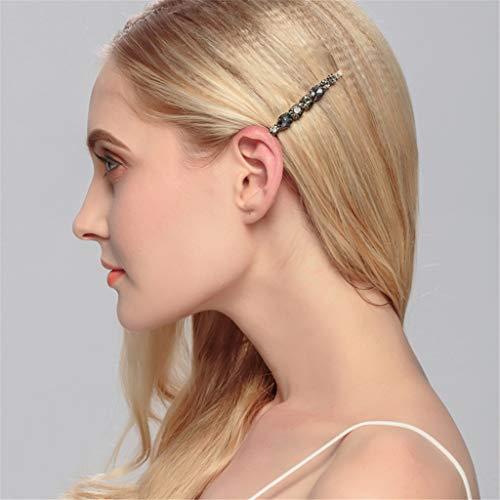 Gaddrt Haarnadel Frauen Diamant Haarspange Bobby Pin Stirnband Haarnadel Haarspange Kamm Zubehör Haarklammer (Black)