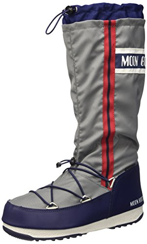 Moon Boot W.E. Waterfall, Stivali, Unisex - adulto Grigio/Blu Navy