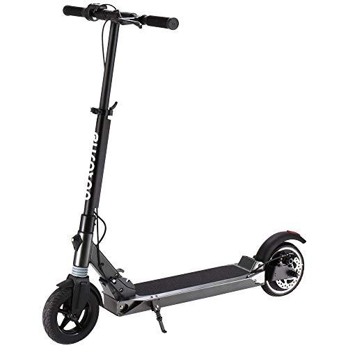 elektro scooter E-Scooter e scooter elektro roller per Fußsteuerung E Scooter Klappbar 8 Zoll Vakuumreifen, Scheibenbremse, 250W Motor Lithium Batterie, bis zu 30km Reichweite (Schwarz - Thor)