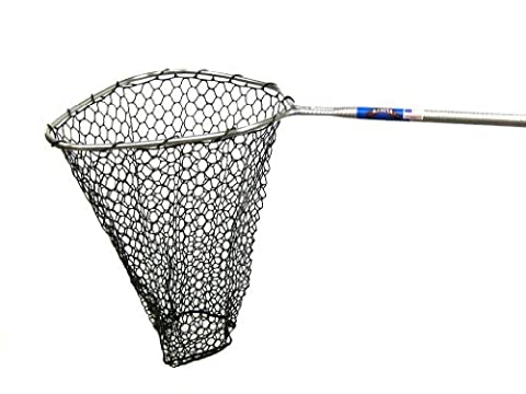 Ranger 356RD Hook-Free and Tangle Free Molded Rubber Knotless Landing Net (36-Inch Handle, 19 x 19 -Inch Hoop, 24-Inch Net Depth) by Ranger Nets