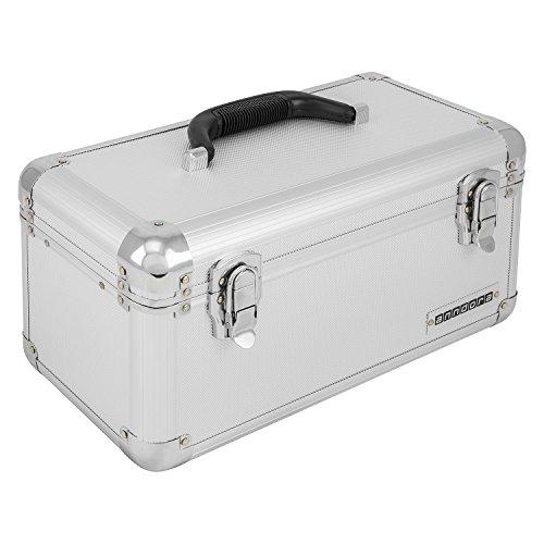 anndora Werkzeugkoffer 13 L Transportbox Werkzeugkasten Werkzeugbox - silber - Silber-münze Lagerung