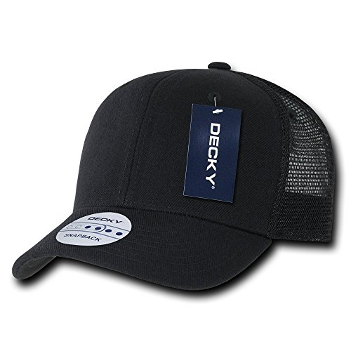 Decky 6 Panel Curve Bill Trucker Baseball Cap