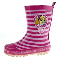 Nickelodeon Girls Paw Patrol Wellington Boots Skye Rain Wellies