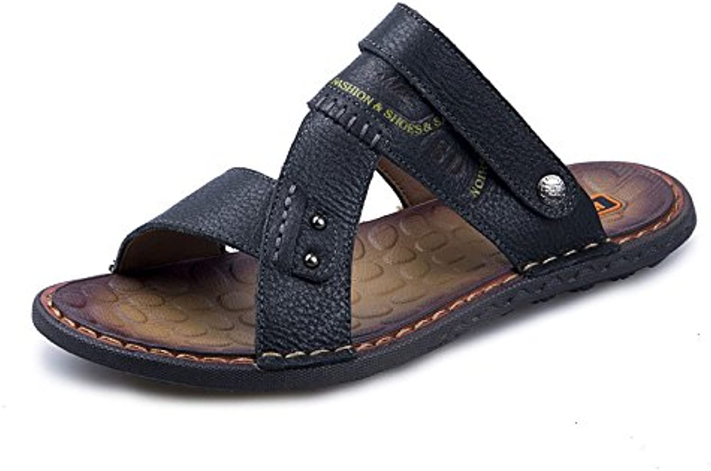 LEDLFIE Sandalen Mode Freizeitschuhe Herren Strandschuhe Black 43