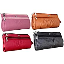 Flora Women's PU Leather Multi-colour Wallet Clutch - Combo of 4