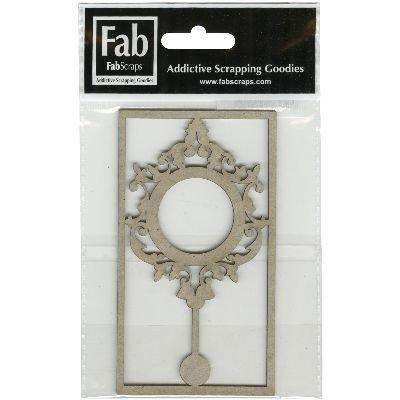 FabScraps Shabby Rosa fustellato grigio truciolare forma
