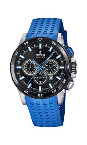 Festina Herren Chronograph Quarz Smart Watch Armbanduhr mit Silikon Armband F20353/7 - Uhren Festina