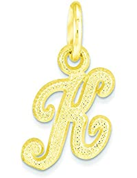 10k Initial K Charm - Higher Gold Grade Than 9ct Gold