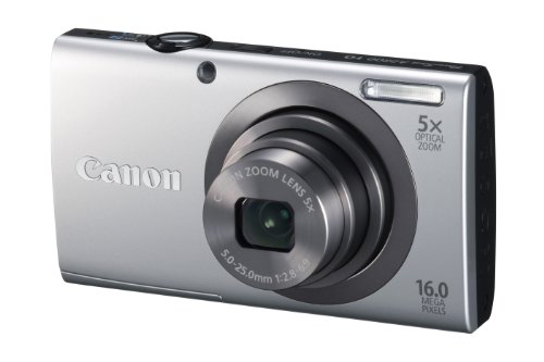 Canon Powershot A2300 16mp Point And Shoot Camera (silver) With 5x Optical Zoom, Memory Card And Camera Case