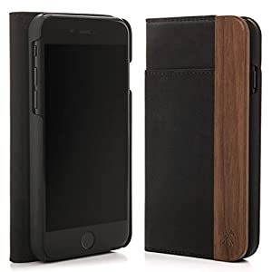 Woodcessories ecowallet 4.7 Mobile A Purse Black, Walnut