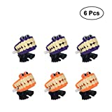#3: Amosfun 6pcs Chattering Teeth Walking Teeth with Eyes Wind Up Toys Halloween Party Favors Halloween Christmas Birthday Gift for Children