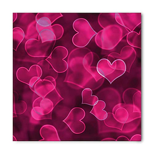 Hot Dog Adult Unisex Hoodie - Hot Pink Bandana, Cute Hearts Blurry,