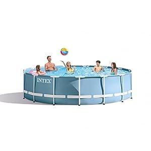 415n4F3vLHL. SS300  - Intex Prism Frame Above Ground Swimming Pool 15 feet x 48
