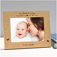 "PERSONALISED 1st First Mothers Day Photo Frame Gifts for Mummy, Mommy, Mammy, Mum - Custom New Mummy Gifts from Son Daughter - First 1st Mothers Day Gifts - 5"" x 7"" and 6"" x 4"" Photo Picture Frames"