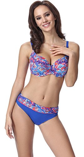 Feba Figurformender Damen Push Up Bikini F10 Muster-304