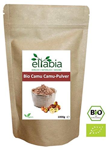 eltabia Bio Camu Camu Pulver 1kg 1000g Maxi Pack natürliches Vitamin C aus kontrolliert biologischen Anbau