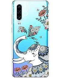 Suhctup Compatible con Huawei Honor Note 10 Funda de Transparente Silicona con Dibujos Lindo Animados Animal Diseño Patrón Cárcasa Suave Flexible Ultrafina TPU Antigolpes Protección Caso, Elefante 2