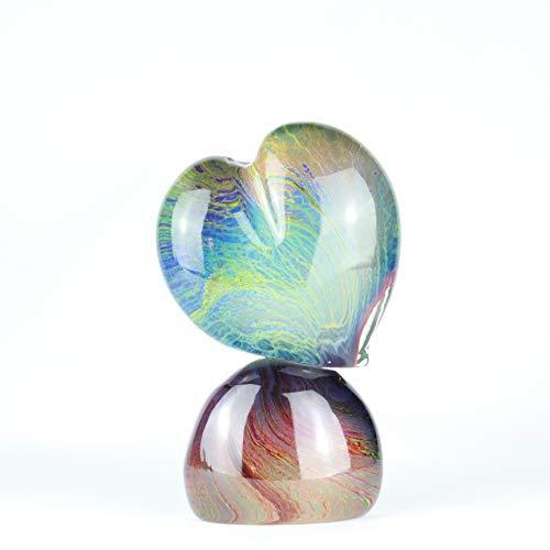 Murano-skulptur (ORIGINAL MURANO GLASS OMG Murano Glas Love Herz Skulptur in Chalcedon von Tagliapietra)