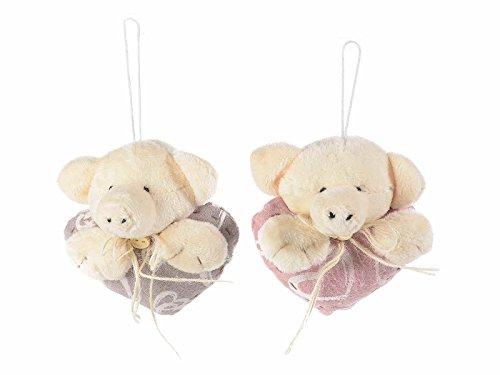 Ideapiu 10Schwein mit Herz gefüllt zum Aufhängen (Herz Modelleisenbahnen)