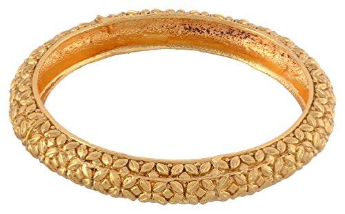 Nakshatra Gold Plated Light Weight Beautiful Bangle Set for Women (Size: 2.8, NA-010--2.8)