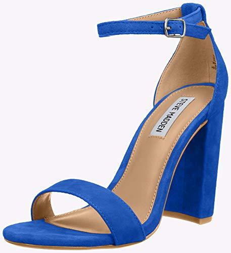 Steve Madden Flache Schuhe (Steve Madden Damen Carrson Sandal Riemchensandalen, Blau (Royal Blue Suede 425), 40 EU (7 UK))