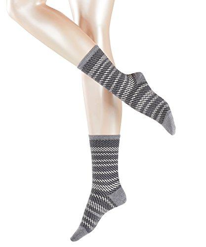ESPRIT Damen Socken Double Wave Mehrfarbig (Light Greymeliert 3390), 35/38