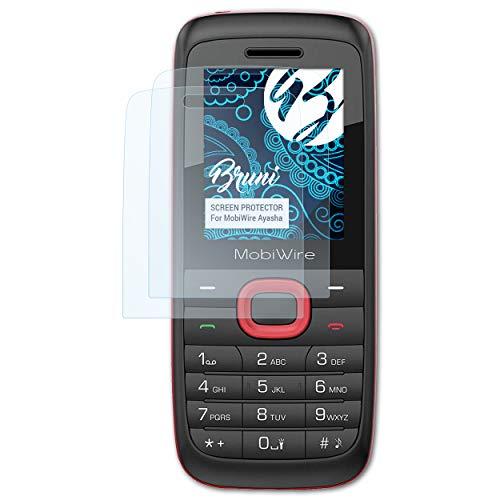 Bruni Schutzfolie kompatibel mit MobiWire Ayasha Folie, glasklare Bildschirmschutzfolie (2X)
