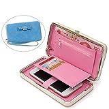 Aeeque Fille Portefeuille Bleu Clair, Portable Porte-monnaie Rangement Téléphone en...