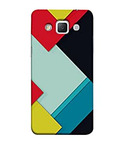 PrintVisa Designer Back Case Cover for Samsung Galaxy Grand 3 :: Samsung Galaxy Grand Max G720F (Fancy Square Design In Cool Colours)
