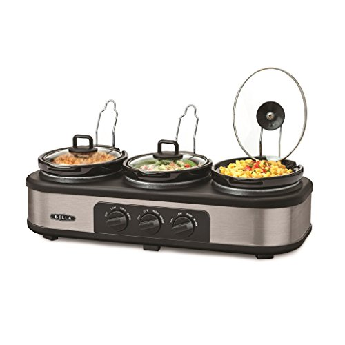 415n9  k2IL - BEST BUY #1 Bella Cook & Serve 3 Pot Slow Cooker With Keep Warm Buffet Setting Reviews and price compare uk