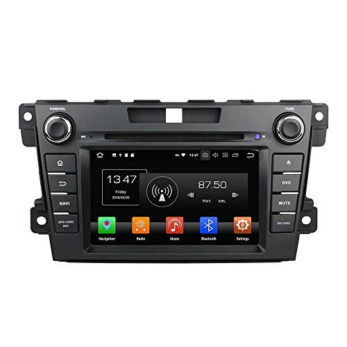 Android 8.0 Octa Core Autoradio Radio DVD GPS Navigation Multimedia-Player Auto Stereo für Mazda CX-7 2012 2013 unterstützt Lenkradsteuerungs mit 3G WiFi Bluetooth frei 8G SD-Karte (Zollfrei)