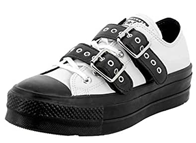 Converse Chuck Taylor Ctas Lift Buckle Ox, Scarpe da Ginnastica Basse Donna, Bianco Black/White 102, 36 EU
