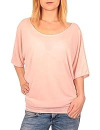 Ella Manue Frauen Damen Soft anschmiegendes Oversize Shirt Leni